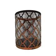 Essential Decor & Beyond Metal and Glass Lantern; 10.75'' H x 8.75'' W x 8.75'' D