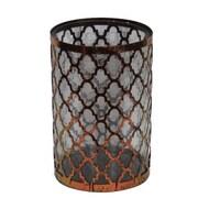 Essential Decor & Beyond Metal and Glass Lantern; 10.5'' H x 7'' W x 7'' D