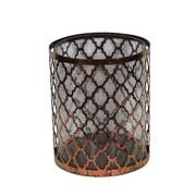 Essential Decor & Beyond Metal and Glass Lantern; 6.75'' H x 5.25'' W x 5.25'' D