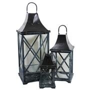 Essential Decor & Beyond 3 Piece Wood Lantern Set