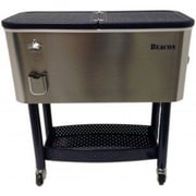 Beacon Garden Products 65 Qt. Rolling Party Cooler; Stainless Steel