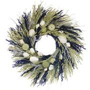 Floral Treasure Sea Island 22'' Wreath; Green/Blue