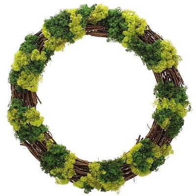 Floral Treasure Mossy Lane Wreath; 30'' H x 30'' W x 4'' D WYF078280041052