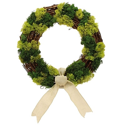 Floral Treasure Mossy Lane Wreath; 18'' H x 18'' W x 3'' D WYF078280041053