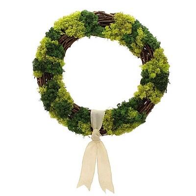 Floral Treasure Mossy Lane Wreath; 22'' H x 22'' W x 4'' D WYF078280041054