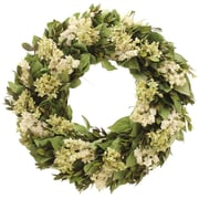 Floral Treasure Kings Garden Hydrangea/Natural Leaf Wreath; 18'' H x 18'' W x 4'' D