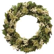 Floral Treasure Kings Garden Hydrangea/Natural Leaf Wreath; 22'' H x 22'' W x 5'' D
