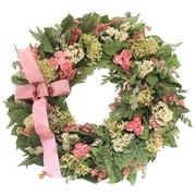 Floral Treasure Sweet Pea Wreath; 18'' H x 18'' W x 5'' D