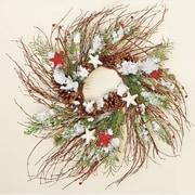 Worth Imports Snowy Twig Wreath w/ Stars