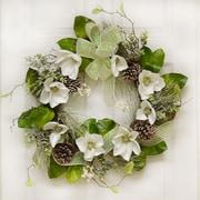 Floral Home Decor 24'' Magnolia Winter Wreath