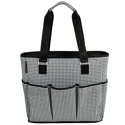 Picnic At Ascot 3 Can Houndstooth Large Insulated Multi Pocket Tote Cooler WYF078280045920