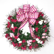 Dried Flowers and Wreaths LLC Tres Roses 22'' Wreath