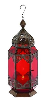 Woodland Imports Traditional Metal Lantern WYF078280048619
