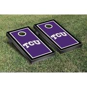 Victory Tailgate NCAA Border Version Cornhole Game Set; Texas Christian University Horned Frogs