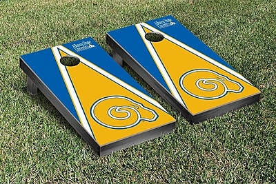 Victory Tailgate NCAA Triangle Version Cornhole Game Set; Albany State University Golden Rams WYF078277126194