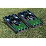 Victory Tailgate MLS Team Soccer Field Version 1 Cornhole Game Set; San Jose Earthquakes Goonies