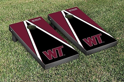 Victory Tailgate NCAA Triangle Wooden Version 2 Cornhole Game Set; West Texas A&M University Buffs WYF078277115631