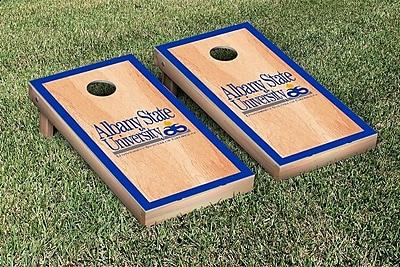 Victory Tailgate NCAA Hardcourt Version Cornhole Game Set; Albany State University Golden Rams WYF078277115457