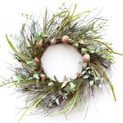 Floral Home Decor Summer House Seashell 24'' Wreath