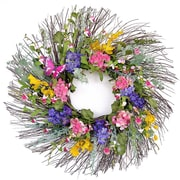 Floral Home Decor Wispy Spring 24'' Wreath