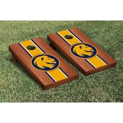 Victory Tailgate NCAA Rosewood Stained Cornhole Game Set; Texas A&M Commerce Lions
