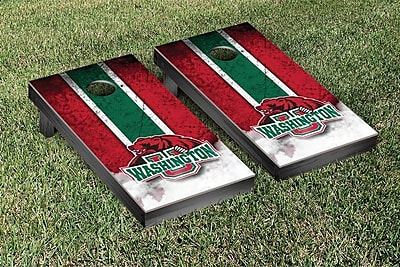 Victory Tailgate NCAA Vintage Wooden Cornhole Game Set; Washington University In St. Louis Bears WYF078277125197