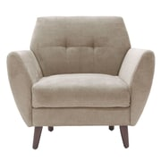 Elle Decor Amelie Mid-Century Modern Arm Chair; Beige