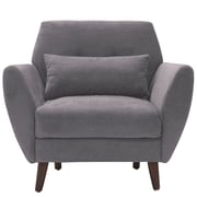 Elle Decor Amelie Mid-Century Modern Arm Chair; Dark Gray