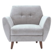 Elle Decor Amelie Mid-Century Modern Arm Chair; Light Gray