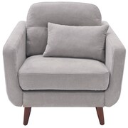 Elle Decor Chloe Mid-Century Modern Arm Chair; Light Gray