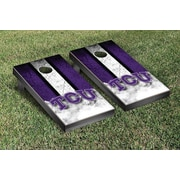 Victory Tailgate NCAA Vintage Wooden Cornhole Game Set; Texas Christian University Horned Frogs