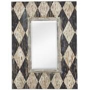 Majestic Mirror Rectangular Wood Framed Beveled Glass Wall Mirror