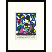 School of Paris 'Exposition d'Affiches Galerie Kl ber Paris 1952' by Henri Matisse Framed Lithograph