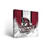 NCAA Indiana South Bend Titans Banner Vintage Design Framed Graphic Art on Wrapped Canvas