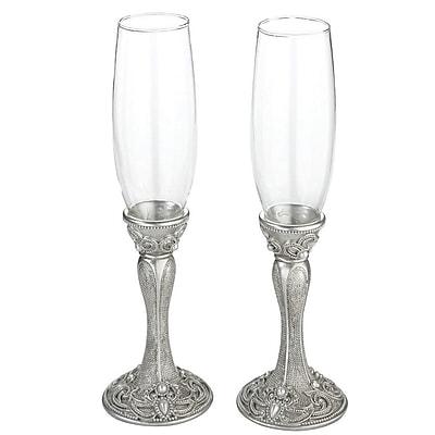 Lillian Rose Regal Elegance Toasting Glass Champagne Flute (Set of 2) WYF078280164379