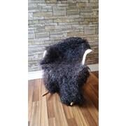 Canada Wool Gotland Swedish Sheepskin Black Area Rug