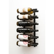 VintageView 12 Bottle Wall Mounted Wine Rack; Satin Black
