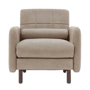 Elle Decor Natalie Mid-Century Modern Arm Chair; Beige