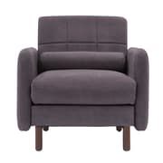 Elle Decor Natalie Mid-Century Modern Arm Chair; Dark Gray