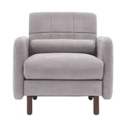 Elle Decor Natalie Mid-Century Modern Arm Chair; Light Gray