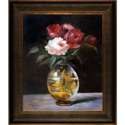 Tori Home Bouquet of Flowers by Edouard Manet Framed Painting Print on Wrapped Canvas