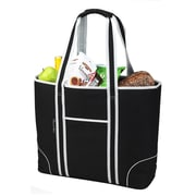 Picnic At Ascot Classic Large Insulated Tote Picnic Cooler; Black / Grey