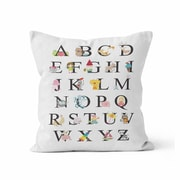 Kalilaine Creation Alphabet Throw Pillow; 16'' H x 16'' W x 3'' D