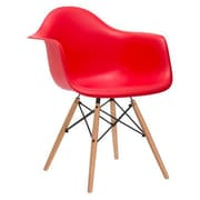 C2A Designs Eiffel Arm Chair; Red