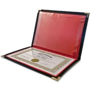Anglers Company Ltd. Diploma And Certificate Holder- 12In.X9In.- Black-Red Lining (Sprch16446)