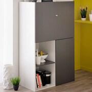 Parisot Flip Multifunctional 2 Door Accent Cabinet; Gray Anthracite