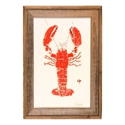 FishAye Trading Company Lobster Framed Print of Painting in Red