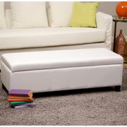 Warehouse of Tiffany Sharon Upholstered Storage Bedroom Bench; White