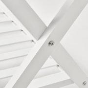 Welland Industries LLC Wood Folding Luggage Rack; White