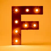 Glitz Home Marquee LED Lighted F Letter Block